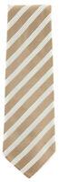 "New Finamore Napoli Light Brown Striped Tie - 3.25"" x 58"" - (TIESTRX188)"