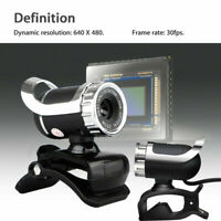 WebCam Mic for Desktops 360° Camera HD USB Skype 2.0 with Web 1080P Video MSN