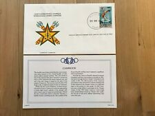 CAMEROON 1984 FDC FRANKLIN OLYMPIC GAMES LOS ANGELES HIGH JUMP