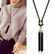 Women Exquisite Tassel Pendant Necklaces Long Chain Sweater Necklace New