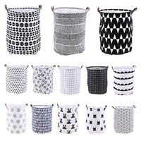 Large Canvas Linen Storage Box Bin Holder Basket Stationery Laundry Organizer