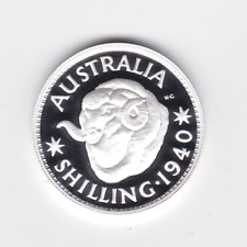 1999 SILVER Proof $1 of 1940 Shilling Sheep Merino Wool Coin ex Masterpieces !)
