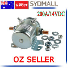 SOLENOID STARTER CONTINUOUS DUTY RELAY SWITCH 12V/14V DC 200AMP UNIVERSAL MARINE