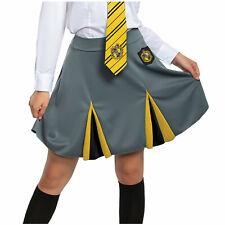 Womens/Teen Harry Potter Hufflepuff Uniform Halloween Costume Skirt Jr S M L XL