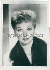 1959 Portrait of Actress Lucille Ball Original News Service Photo