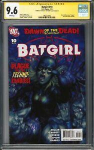 Batgirl #10 Artgerm Cover CGC SS 9.6 Auto DC Comics 2010 Stanley Lau Signed NM