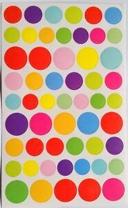 Rainbow Colourful Seal Dots Circle Sticker Scrapbook Decorating DIY for Children