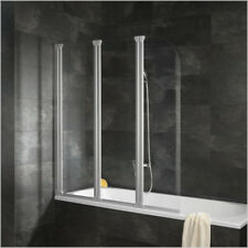 Badewannenaufsatz Duschabtrennung Duschwand Badewannenfaltwand Aluminium