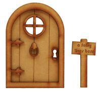 Wooden Fairy Door Fairy Castle Door Fairy Sign Fairy Window Fairy Garden Door