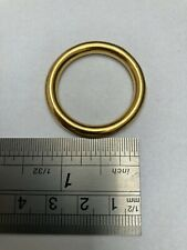 """1"""" Solid Cast Rings Brass Leatherwork Dog Collars Bags crafts"""