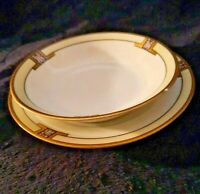 VINTAGE EPIAG CZECHOSLOVAKIA SMALL PLATE and  BOWL DIANA GOLD RIM