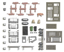 Busch 1171 Slaughterhouse decoration set with pigs HO / OO Gauge