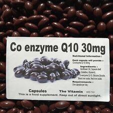 """Co-enzyme Q-10 30mg 1000 capsules   """"BUY IN BULK""""   (L)"""