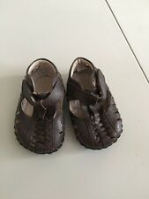 Pediped Sz 1 3M 6M 12M Brown Leather Sandals Shoes Soft Leather Sole Boy Boutiqu