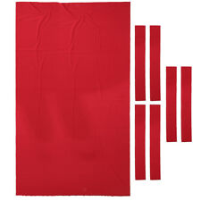 9ft Billiard Pool Table Cloth Billiard Felt with Cushion Rail Strip Red
