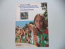 advertising Pubblicità 1975 GELATO NOCCHIERO CHIAVACCI