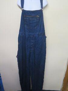VINTAGE Denim Oversize Dungarees Overalls Jumpsuits Size 2XL UK 18/20