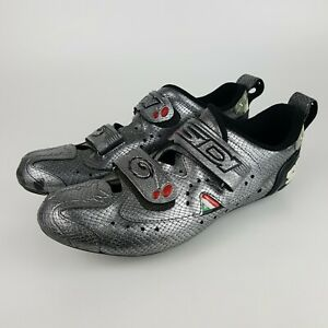 Sidi T-2 Carbon Millennium Size 46 Bike Shoes Snake Skin Pattern