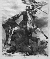 GENERAL GRANT CUTS OFF HEAD OF KU KLUX PEACE REBELLION HORSE UNION EQUAL RIGHTS