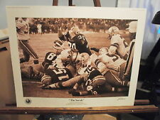 Bart Starr Signed by John Biever Packers Lombardi Ice Bowl Football Photo Print