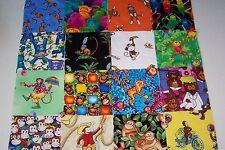 "30 4"" fabric squares - Fun MONKEYS"