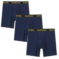 3 x Herren Boxershorts Joggen und Training Boxer Briefs Unterwäsche Unterhose