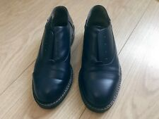 marni shoes navy blue womens leather