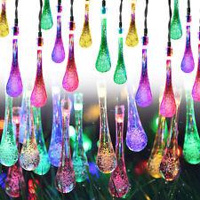 Solar Teardrop/Water Drop/Waterproof String Lights Solar Meteor Shower Lights US