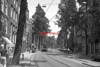 PHOTO  1990 NETHERLANDS AMSTERDAM TRAM GVBA TRAM NOS 681 ON ROUTE NO 5
