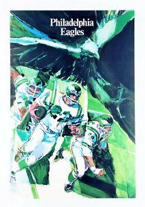 """PHILADELPHIA EAGLES"" (1968) *NFL FOOTBALL POSTER* Original *COLLECTOR'S SERIES*"