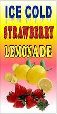 Ice Cold Strawberry Lemonade Vinyl Vertical Banners Choose A Size Lemon Ade