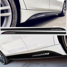 M Performance Carbon Fiber Sticker Side Skirt Decal for BMW 3 5 X1 X3 X5 Series