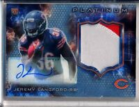 JEREMY LANGFORD - 2015 Topps Platinum Refractor Rookie 2 Color Patch AUTO Bears