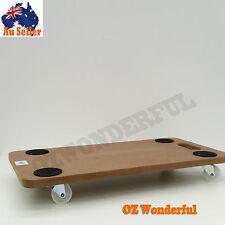 Wooden Platform Cart Dolly Trolley Workshop Handcart Moving Mover Remover Wheels