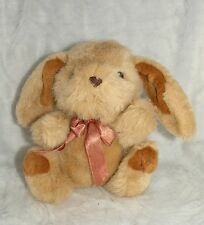 "Cute 8"" Brown Soft Fluffy Plush Stuffed Easter Bunny Rabbit EUC"