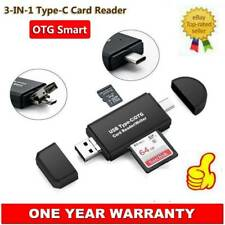 Micro USB Type-C OTG Card Reader SD TF Micro SD For Samsung Galaxy S9+ S8+ S7 S6