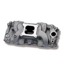 Weiand Intake Manifold 8018; Stealth Rectangular Port Satin Aluminum for BBC