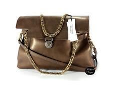 Authentic VERSACE Leather Vitello Parlato Bronze Hand Shoulder Bag **SALE**
