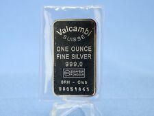 Silber Barren Valcambi Suisse   1 Oz. 999 Silber