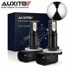 2X AUXITO 881 898 CSP LED Fog Light Bulb Front 6000K White 2600LM Super Bright