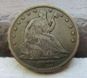 1877 ~ 50c Liberty Seated Half Dollar ~ Very Fine ~ Original VF!!