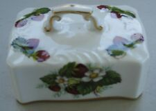 Hammersley Strawberry Ripe Rectangular Butter Dish Lid Only