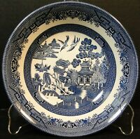 Churchill Blue Willow Vegetable Serving Bowl 8 7/8 Round England Excellent