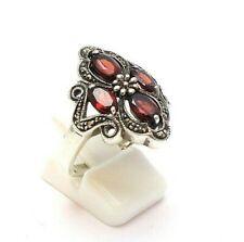 Vintage Silberring Granat Ring 925er Silber RG.57 Ø18,1mm silver ring Punze DH