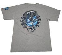 Vtg 90's JNCO Jeans Shiny Dragon Snake Ying Yang Skater Raver Made In USA Size L