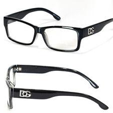 New Mens Womens Square Clear Lens Frame Eye Glasses Fashion Designer Black Nerd