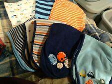 Lot Of 8 Gerber Infant Burp Rags for boy's