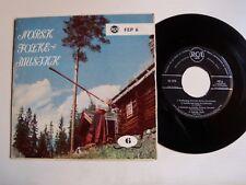 """NORSK FOLKE MUSIKK - Karoline Bergseth, Livo Huse V/A 7"""" EP Norway RCA FEP 6"""