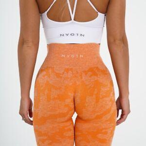 NVGTN Burnt Orange Camo Seamless Leggings Size XS New In Stock