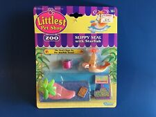 Littlest Pet Shop Zoo Slippy Seal with Starfish sealed Kenner MOC Vintage
